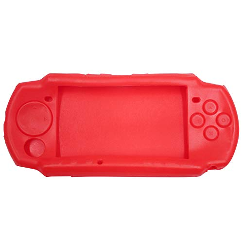 OSTENT Soft Protector Silicon Travel Carry Case Skin Cover Pouch Sleeve Compatible for Sony PSP 2000/3000 Color Red from OSTENT
