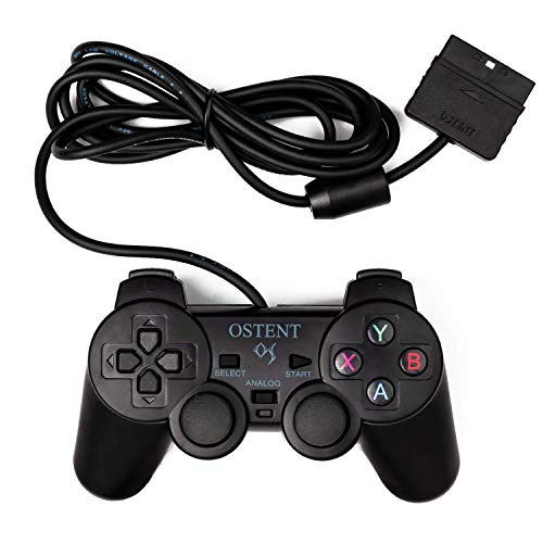 OSTENT Wired Analog Controller Gamepad Joystick Joypad for Sony Playstation PS2 PS1 PS One PSX Console Dual Shock Vibration Video Games from OSTENT