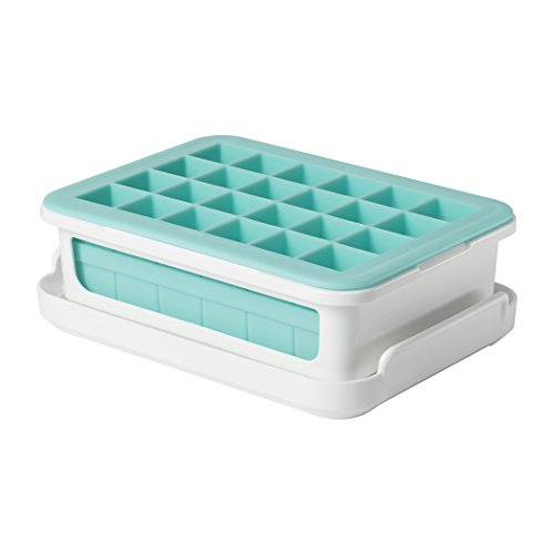 OXO Good Grips Covered Ice Tray Cocktail Cubes, Blue, Small from OXO Good Grips