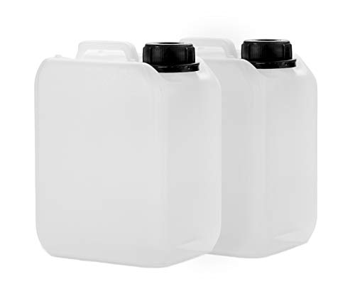 2x 2.5 L canister made from HDPE, with DIN 45 mm cap and UN certification, water canister, food-safe from Octopus