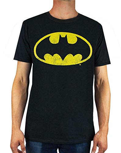 DC Comics Batman Distressed Logo Men's T-Shirt (S) from DC Comics