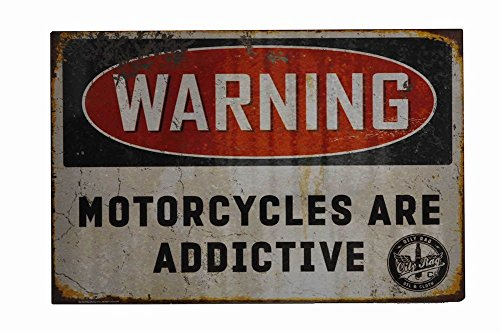 Oily Rag Clothing Motorcycles Are Addictive Sign from Oily Rag