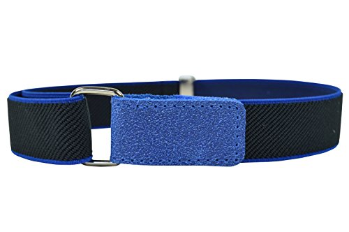 Childrens 1-6 Years fully adjustable Elasticated Belt with Hook and Loop Fastening - Black / Royal Blue from Olata