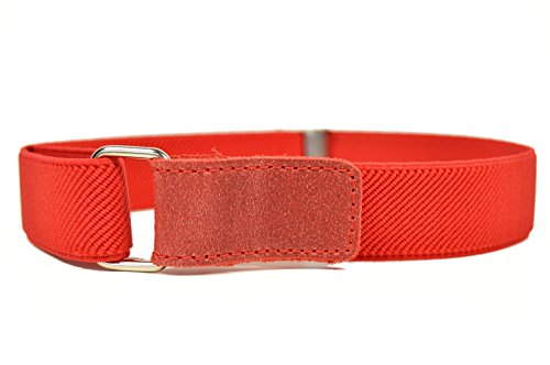 Childrens 1-6 Years fully adjustable Stretch Belt with Hook and Loop Fastening - Red from Olata