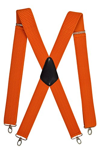 Olata Heavy Duty X-Shape Braces with Carabiner Clips, 4cm - Orange from Olata
