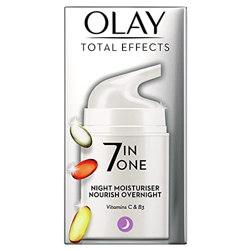 Olay Total Effects 7-in-1 Anti Ageing Night Firming Moisturiser with Niacinamide, Vitamin C and E, 50 ml from Olay