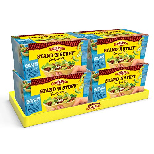 Old El Paso Stand 'N' Stuff Extra Mild Super Tasty Soft Taco Kit 329g (Pack of 4) from Old El Paso