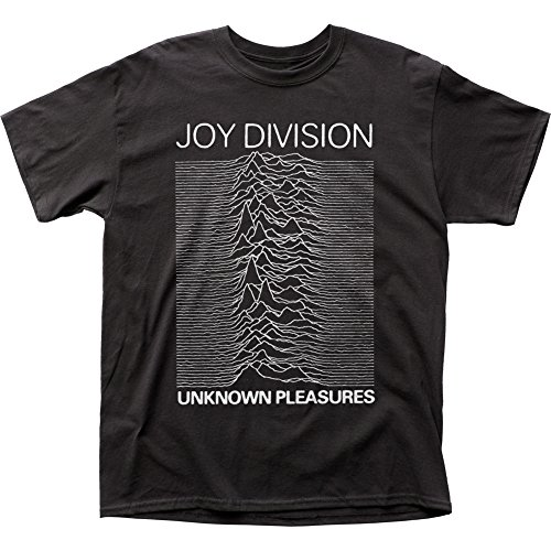Impact Men's Joy Division Unknown Pleasures T-Shirt, Black, X-Large from Impact