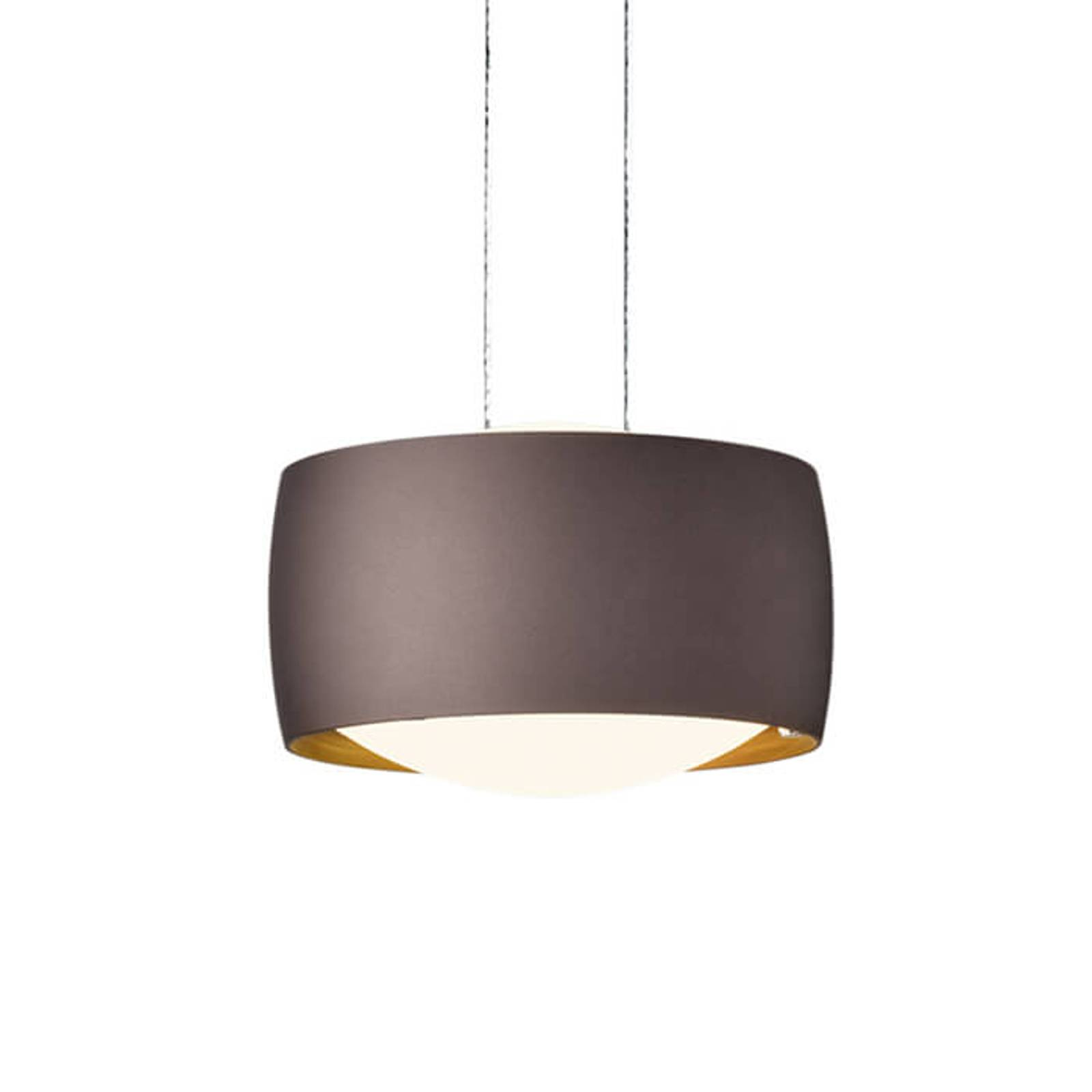 Height-adjustable LED hanging light Grace in brown from Oligo