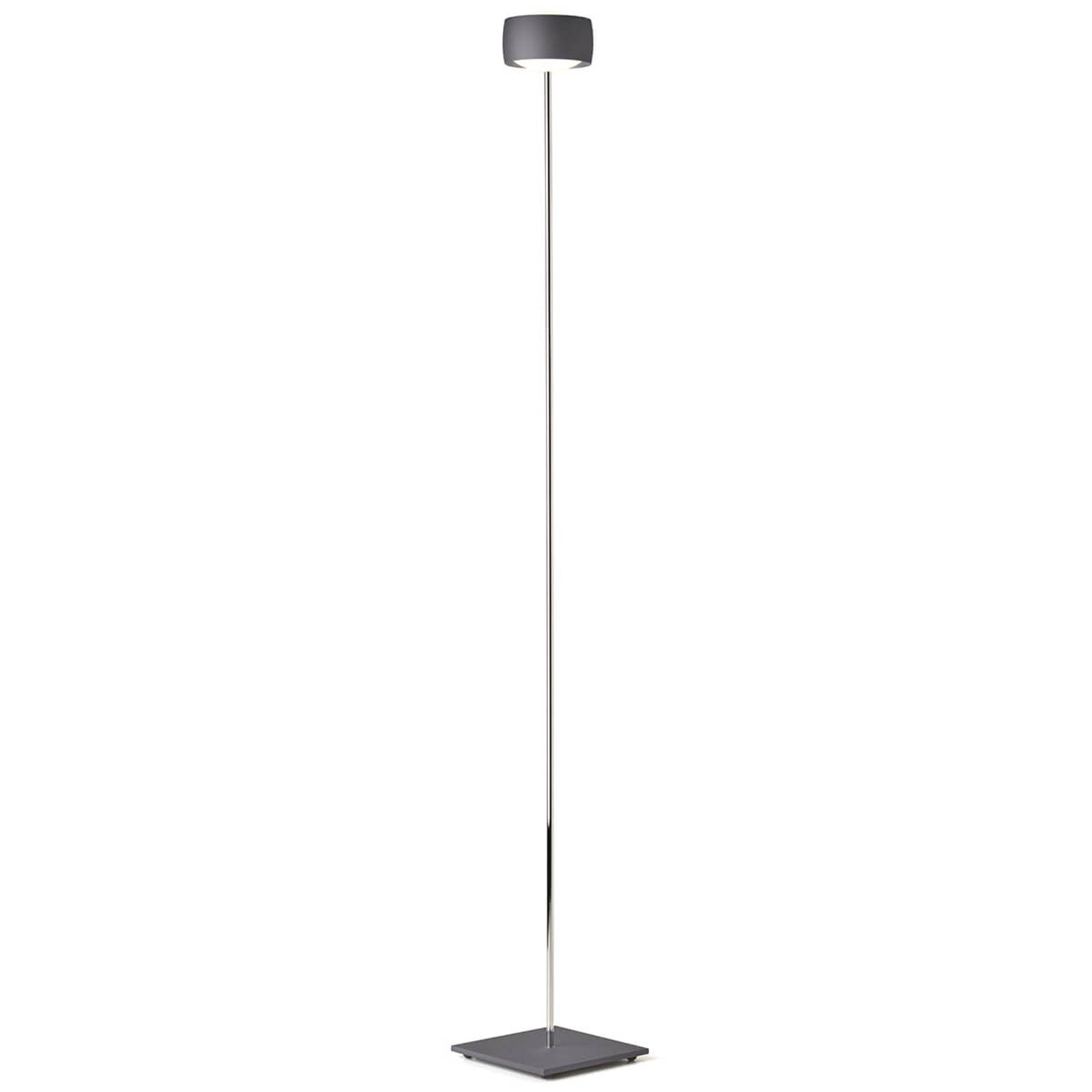 LED floor lamp Grace with gesture control, grey from Oligo