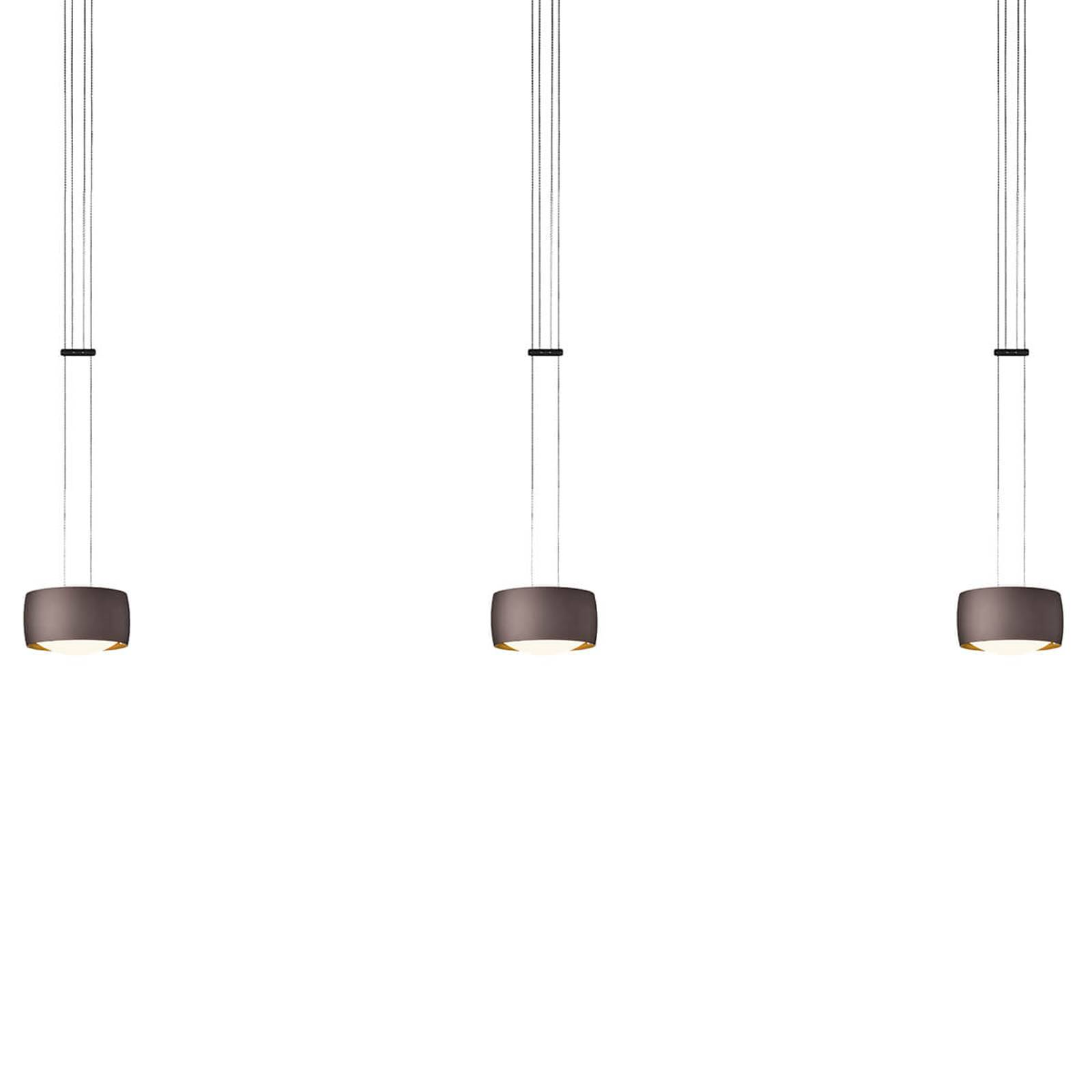 OLIGO Grace LED hanging light 3-bulb brown from Oligo