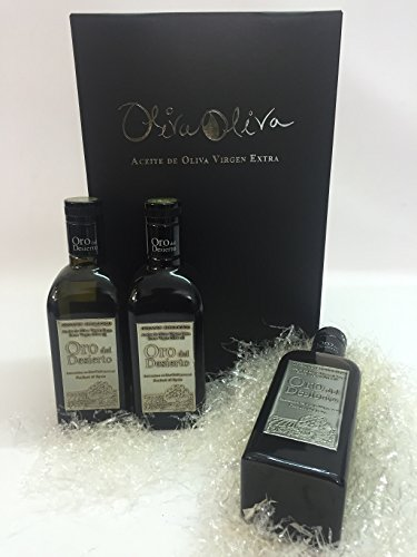 3 bottles x 500ml - Oro del desierto Coupage Organic Extra Virgin Olive Oil By Oliva Oliva Internet from Oliva Oliva Internet SL (Spain)