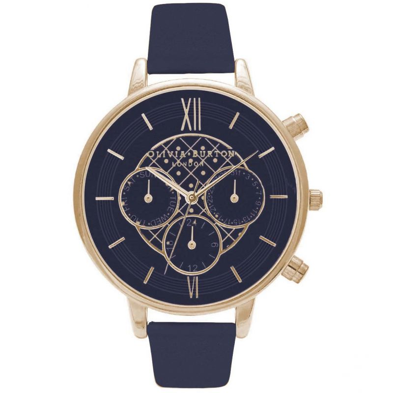 Chrono Detail Navy & Gold Watch from Olivia Burton