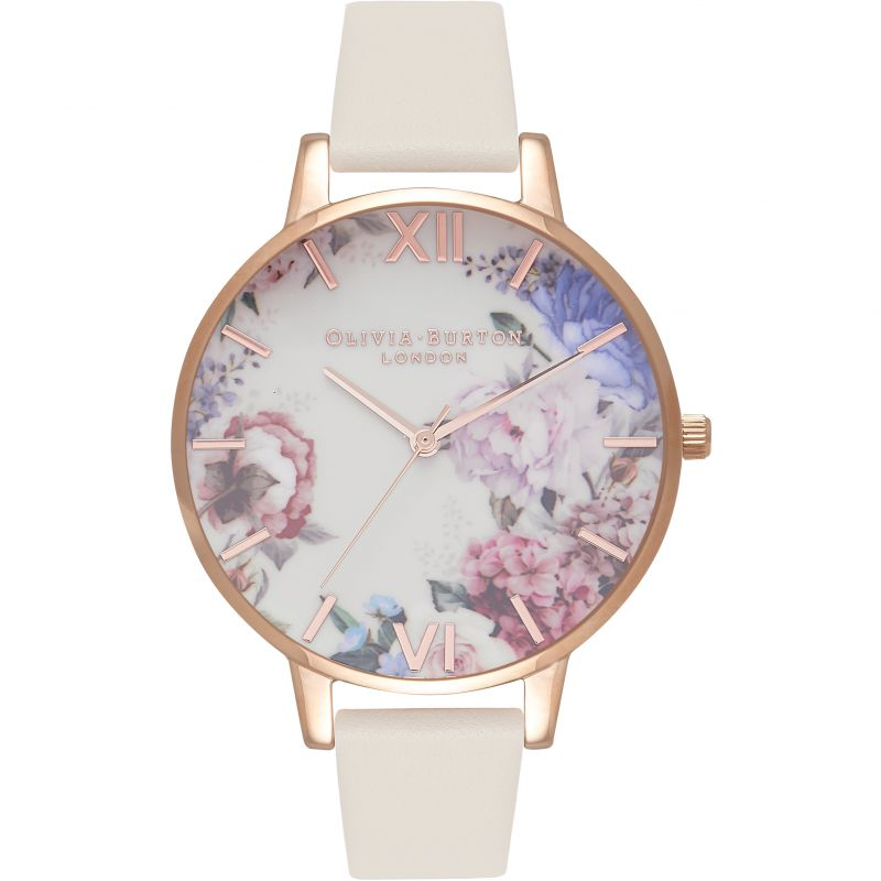 Enchanted Garden Rose Gold  & Nude Watch from Olivia Burton