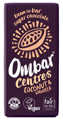 Ombar Coconut and Vanilla Chocolate 35 g (Pack of 10) from Ombar