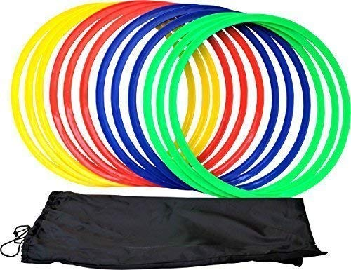 Only Sports Gear 12 Pc Sport Training Agility Speed Ring Hoops Football Soccer Basketball 45cm Uk from Only Sports Gear
