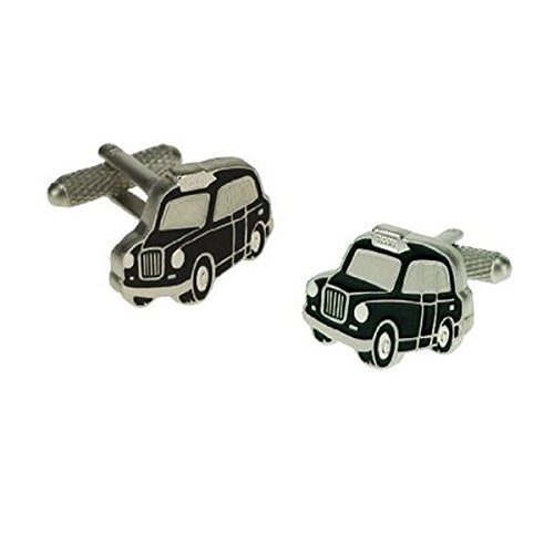 Black London Taxi Cufflinks in Gift Box - Onyx-Art London CK517 from Onyx-Art London