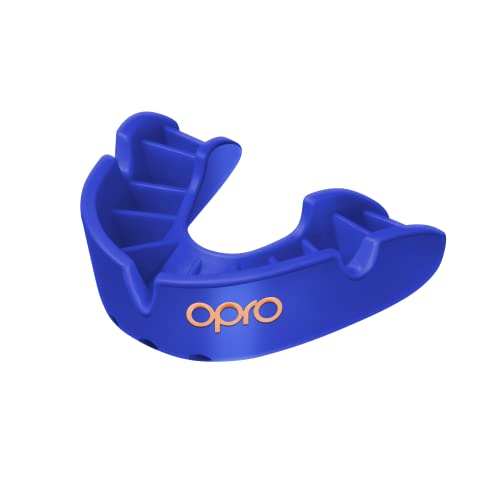 OPRO Bronze Level Adult Mouthguard - Gumshield for Rugby, Hockey, MMA, Contact Sports - Dental Care, 3-Minute Fitting Process, Anatomical Fins, Latex Free, Absorbs High Impact Blows from Opro