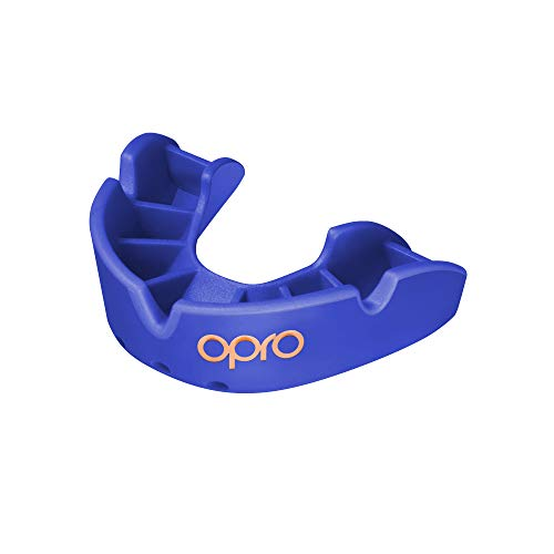 Opro Bronze Level Mouthguard | Gum Shield for Rugby, Hockey, Boxing, and Other Contact Sports - 18-Month Dental Warranty (Blue, Kids) from Opro