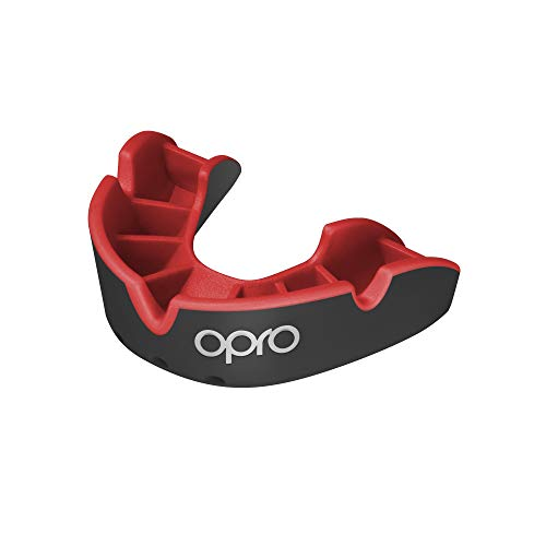 Opro Silver Level Mouthguard, Kids, Black/Red from Opro