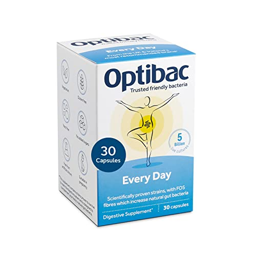 OPTIBAC Live Cultures For Every Day, Pack of 30 Capsules from Optibac