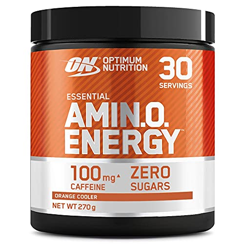 Optimum Nutrition Amino Energy Pre Workout Powder Keto Friendly with Beta Alanine, Caffeine, Amino Acids and Vitamin C, Orange Cooler, 30 Servings, 270 g from Optimum Nutrition
