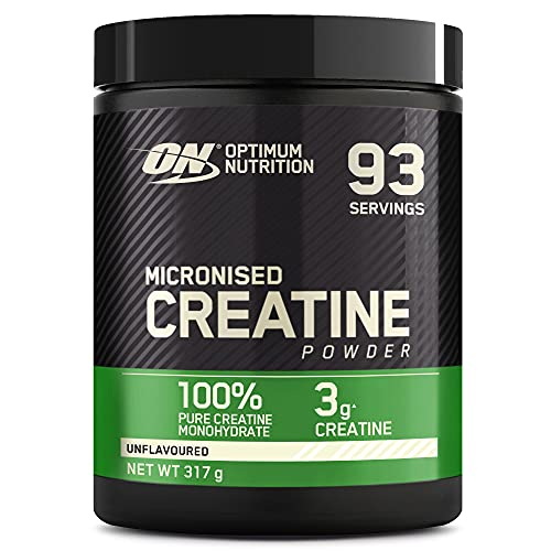 Optimum Nutrition Micronised Creatine Monohydrate  formulated for Muscle Development by ON - Unflavoured, 88 Servings, 317g from Optimum Nutrition