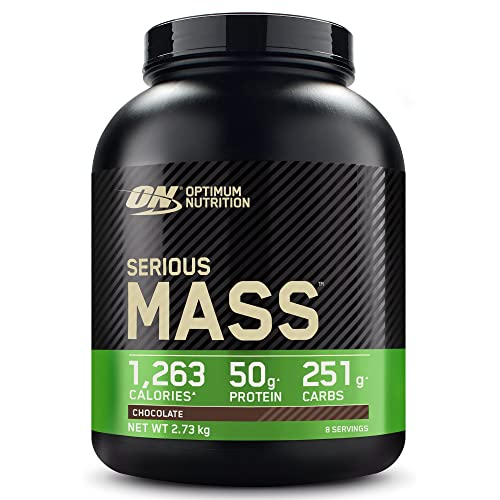 Optimum Nutrition Serious Mass Protein Powder High Calorie Mass Gainer with Vitamins, Creatine and Glutamine, Chocolate, 8 Servings, 2.73 kg from Optimum Nutrition