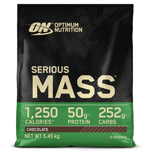 Optimum Nutrition Serious Mass Protein Powder High Calorie Mass Gainer with Vitamins, Creatine and Glutamine, Chocolate, 16 Servings, 5.45 kg from Optimum Nutrition