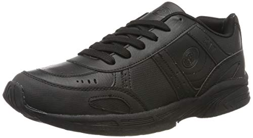 Optimum Adults Lace Up Fastening School Trainer, Black, 11 (45 EU) from Optimum