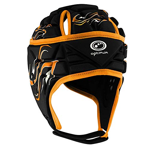 Optimum Unisex Junior Inferno Protective Headguard, Black/Orange, Small from Optimum