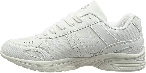 Optimum Kids Lace Up Fastening School Trainer, White, 3 (36 EU) from Optimum