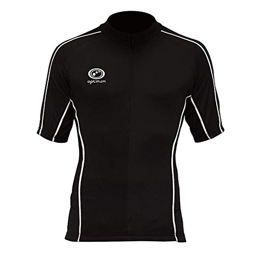Optimum Men's Hawkley Cycling Short Sleeve Jersey, Black, XX-Large from Optimum