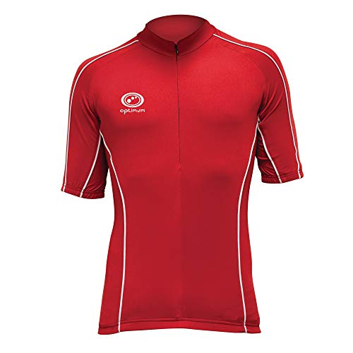 Optimum Men's Hawkley Cycling Short Sleeve Jersey, Red, X-Large from Optimum