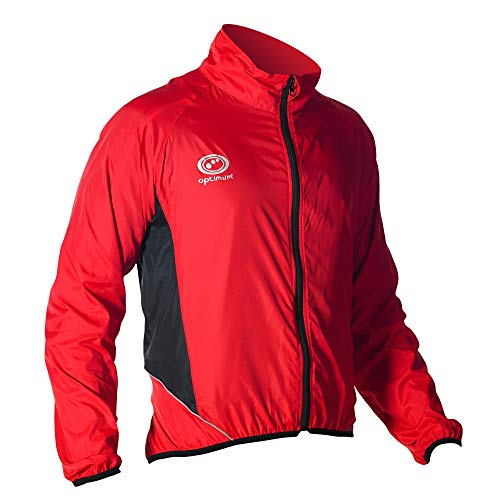 Optimum Men Hawkley Cycling Stowaway Jacket, Red, Small from Optimum