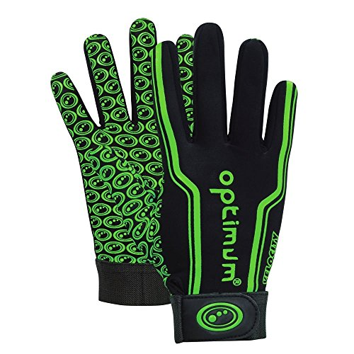 Optimum Men's Velocity Thermal Rugby Gloves, Men - Black/Green, Small from Optimum