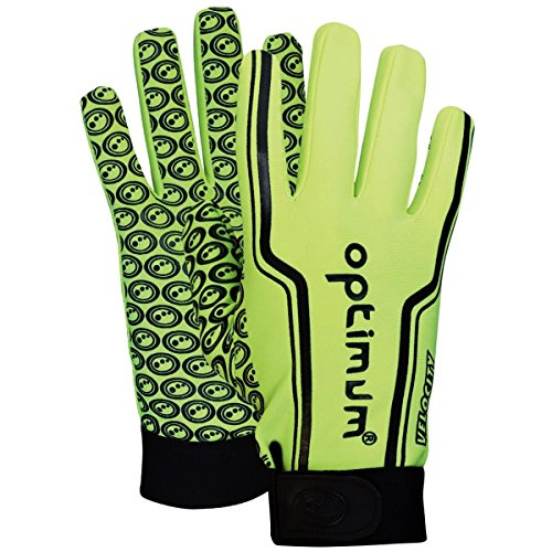 Optimum Senior Velocity Rugby Gloves, Fluro Yellow, Small from Optimum