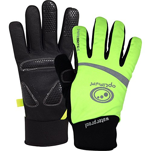 Optimum Nitebrite Waterproof Boy's BMX Gloves - Green/Large from Optimum