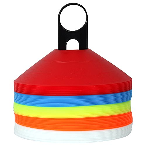 Optimum Set of 50 Multi Sports Space Marker Cones & Carry Stand, Multicolored from Optimum