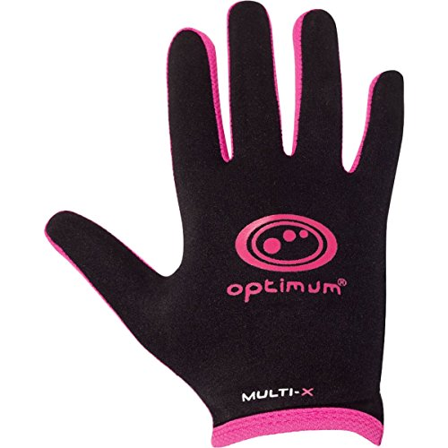 Optimum Mens Multi-X Full Finger Gloves - Black/Pink, Medium from Optimum