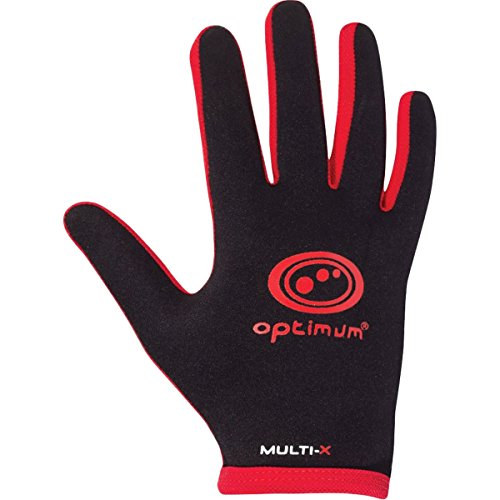 Optimum Mens Multi-X Full Finger Gloves - Black/Red, X-Large from Optimum