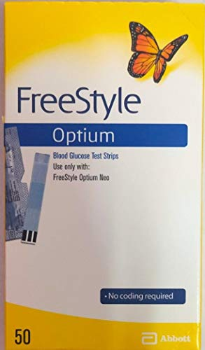 Freestyle Optium Glucose Test Strips from Optium