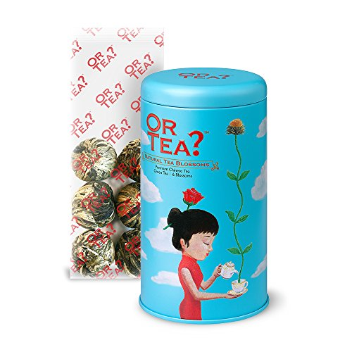 Or Tea Natural Tea Blossoms Tin Canister from Or Tea