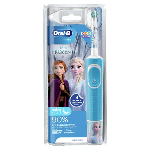 Oral-B Stages Power Kids Electric Toothbrush Featuring Frozen Characters, 1 Handle, 1 Brush Head, UK 2 Pin Plug for Ages 3+ from Oral-B