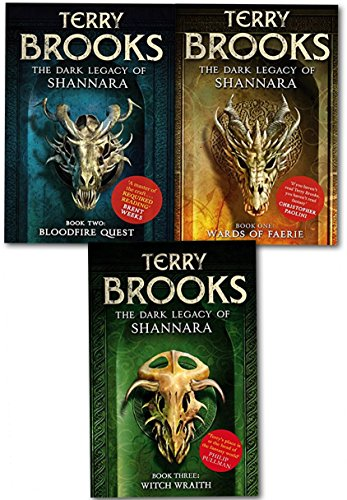 The Dark Legacy of Shannara Series Terry Brooks 3 Books Collection Set (Wards of Faerie, Bloodfire Quest, Witch Wraith) from Orbit