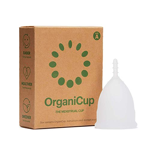 OrganiCup Menstrual Cup - 1# Winner of AllergyAwards 2019 - Size A/Small - Reusable Period Cup - FDA Approved - Soft, Flexible, Reusable Medical-Grade Silicone from OrganiCup