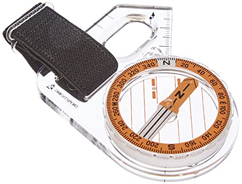 Orientsport - Compass, Forest model, left for right-handed orienteerers, orange, one size. from Orientsport