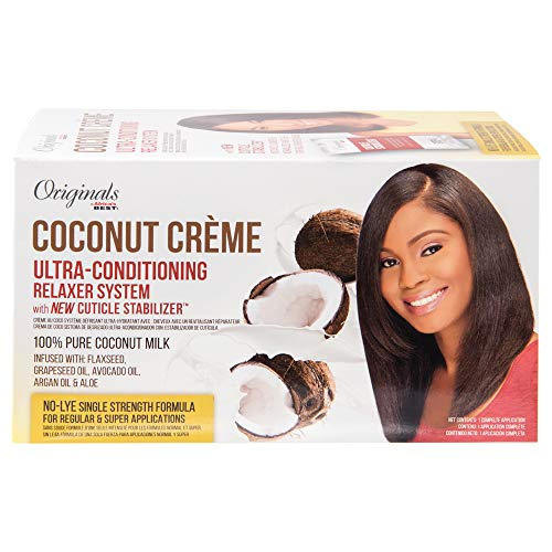 Originals By Africa's Best Coconut Creme Ultra-Conditioning Relaxer System with Cuticle Stabilizer 1 Kit from Originals by Africa's Best