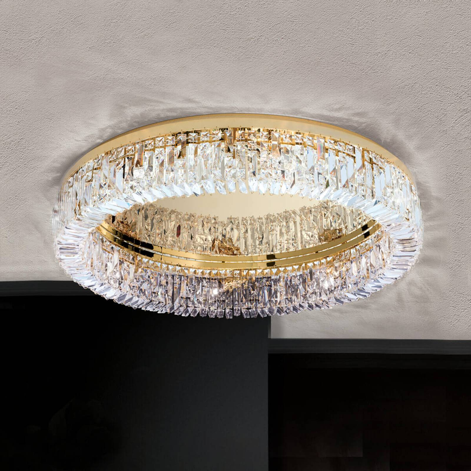 Crystal ceiling lamp Ring - 75 cm from Orion