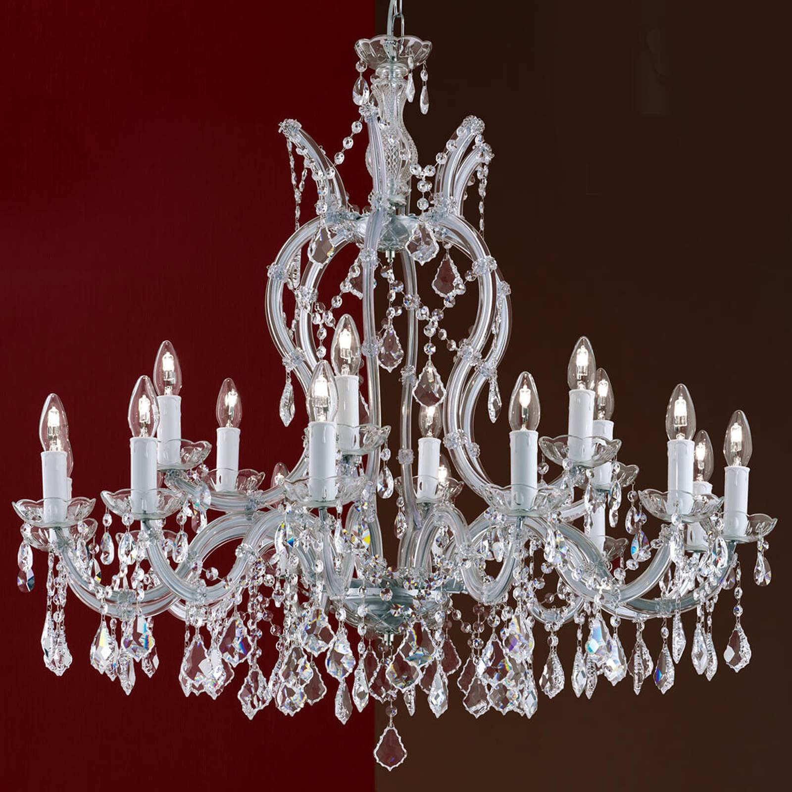 Crystal chandelier Maria Theresia, 18-bulb from Orion